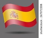 spain waving flag | Shutterstock .eps vector #267072308