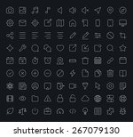 outline vector icons for web... | Shutterstock .eps vector #267079130