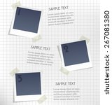 photo frames for infographic on ... | Shutterstock .eps vector #267081380