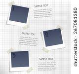 photo frames for infographic on ... | Shutterstock .eps vector #267081380