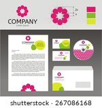 corporate identity template.... | Shutterstock .eps vector #267086168