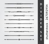 decorative divider set | Shutterstock .eps vector #267092954