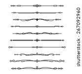 decorative divider set | Shutterstock .eps vector #267092960