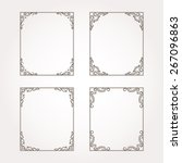 set of four floral frames.... | Shutterstock .eps vector #267096863