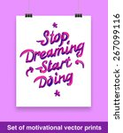vintage poster with motivation... | Shutterstock .eps vector #267099116