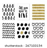 collection of romantic and love ... | Shutterstock .eps vector #267103154