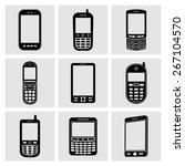 mobile phone icons | Shutterstock .eps vector #267104570