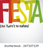 bright typographic fiesta card... | Shutterstock .eps vector #267107129