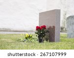 Red Roses In Grass With...