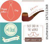set of vintage backgrounds with ... | Shutterstock .eps vector #267111368