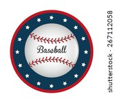 baseball design over white... | Shutterstock .eps vector #267112058
