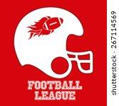 football design over red... | Shutterstock .eps vector #267114569