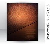 gorgeous dark chocolate design... | Shutterstock .eps vector #267121718