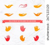 vector collection of open palms ...   Shutterstock .eps vector #267122120