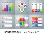 infographic design template can ... | Shutterstock .eps vector #267122174