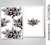 abstract flower background with ... | Shutterstock . vector #267124826