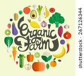 organic farm vector concept... | Shutterstock .eps vector #267126344