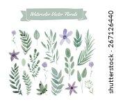 set of handpainted watercolor... | Shutterstock .eps vector #267126440