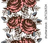 abstract elegance seamless... | Shutterstock . vector #267126524