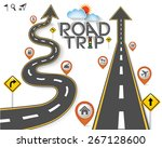 design road   street template... | Shutterstock .eps vector #267128600