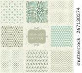 set of 8 geometric seamless... | Shutterstock .eps vector #267130274