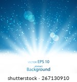 abstract bright rays of light | Shutterstock .eps vector #267130910