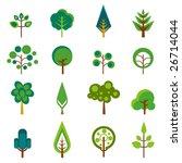 tree icons vector | Shutterstock .eps vector #26714044