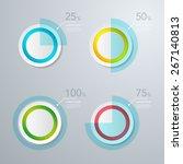 infographic design template.... | Shutterstock .eps vector #267140813