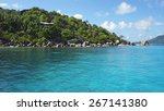 felicite island on the... | Shutterstock . vector #267141380