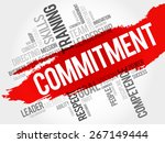 commitment word cloud  business ... | Shutterstock .eps vector #267149444