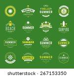 summer holidays design elements ... | Shutterstock .eps vector #267153350
