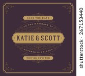 wedding invitation card save... | Shutterstock .eps vector #267153440