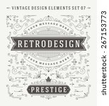 vintage vector swirls ornaments ... | Shutterstock .eps vector #267153773