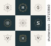 set luxury logos template... | Shutterstock .eps vector #267153860