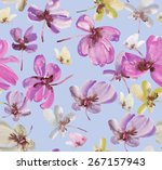 beautiful watercolor floral... | Shutterstock . vector #267157943