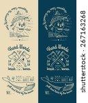 trendy retro vintage insignias  ... | Shutterstock .eps vector #267163268