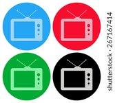 tv vector icon | Shutterstock .eps vector #267167414