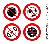 no  ban or stop signs. sport... | Shutterstock .eps vector #267172820