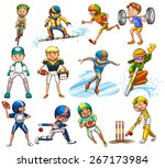 sport set played by male | Shutterstock .eps vector #267173984