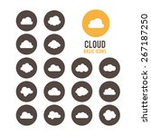 cloud icon set. vector... | Shutterstock .eps vector #267187250