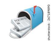 beautiful blue metallic opened...   Shutterstock . vector #267189890