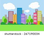 vector cityscape | Shutterstock .eps vector #267190034
