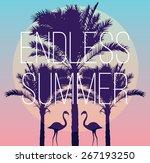 silhouette tropic birds... | Shutterstock .eps vector #267193250