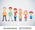 big cartoon family with parents ...   Shutterstock .eps vector #267193910