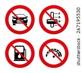 no  ban or stop signs.... | Shutterstock .eps vector #267195530