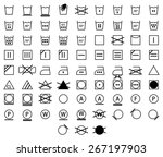 icon set of black laundry... | Shutterstock .eps vector #267197903