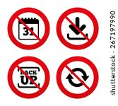 no  ban or stop signs. download ... | Shutterstock .eps vector #267197990