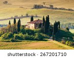 landscape in tuscany | Shutterstock . vector #267201710