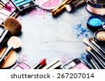 colorful frame with various... | Shutterstock . vector #267207014