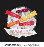 modern origami paper... | Shutterstock .eps vector #267207818